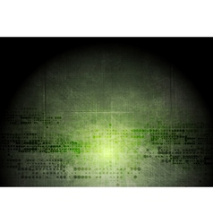 Dark green grunge tech background with geometric vector