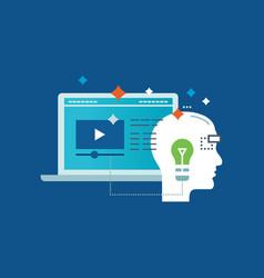 Education and types success motivation progress vector