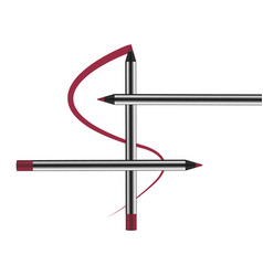 eyeliner pencil makeup cosmetics realistic 3d vector image vector image