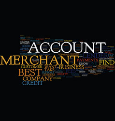 Find the best merchant account text background vector
