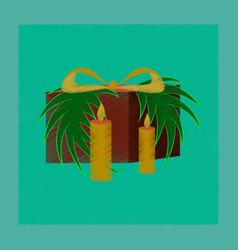 Flat shading style icon christmas gift vector