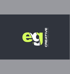 Green letter eg e g combination logo icon company vector