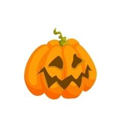Halloween pumpkin icon in cartoon style vector image vector image
