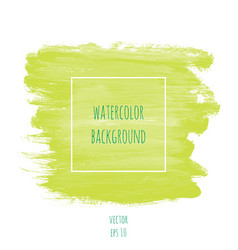 hand drawn watercolor light green lime color vector image vector image