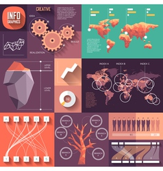 Infographics of flat design with long shadows vector image