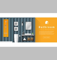 Interior design Modern bathroom background 6 vector image