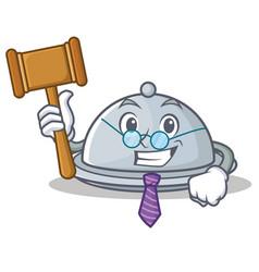 Judge tray character cartoon style vector