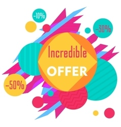 Limited Offer Mega Sale geometrical ultra modern vector image vector image