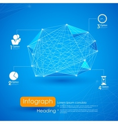 Networking Infographic Background vector image