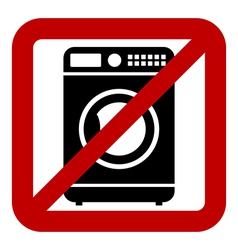 No washing machine icon vector image