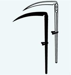 Old scythe vector