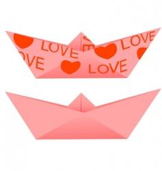 origami ship vector image vector image