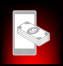 Payment refill your mobile smart phone postage vector