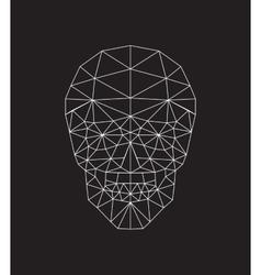 polygonal skull vector image vector image