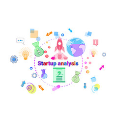startup analysis concept business idea development vector image