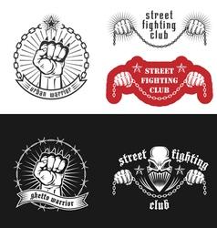 Street fighting emblem vector image vector image