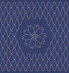 traditional japanese embroidery ornament with vector image vector image