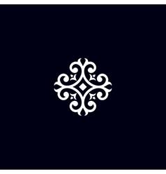 Vintage flower emblem vector image vector image