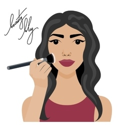 With sexy girl with brush vector