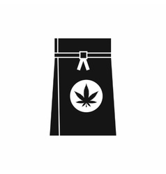 Bag with cannabis icon simple style vector