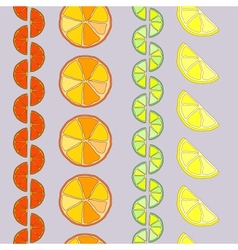 Rows of citrus seamless pattern vector