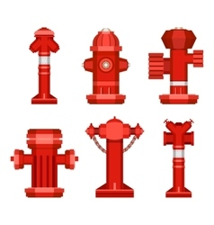 Set of street hydrants vector