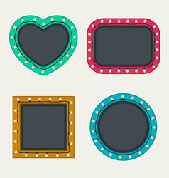 Frames set with bulbs vector
