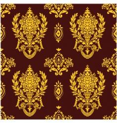 rose leaf pattern vector image