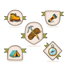 Mountain hiking vector