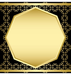 gold and black decorative frame - card vector image