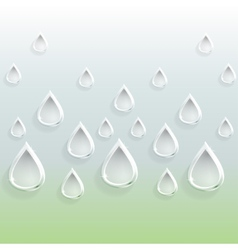 Background of glass carved drops vector