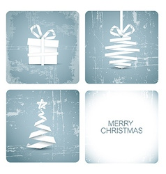 Simple grunge christmas card vector image