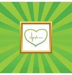Cardiology picture icon vector