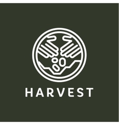 Logo outline horticulture crop plant soil style vector
