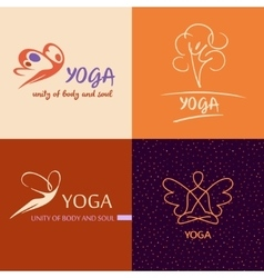 Logo template yoga studio image design for vector