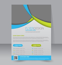 Template for brochure or flyer editable a4 poster vector
