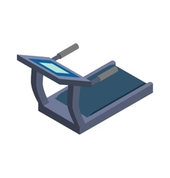 Treadmill icon isometric 3d style vector