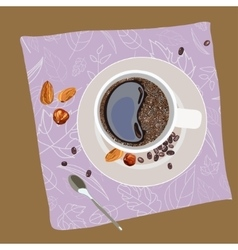 With the image of a cup of coffee vector