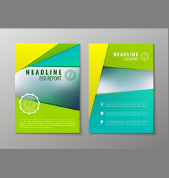 corporate brochure flyer design layout vector image