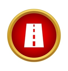 Road icon in simple style vector