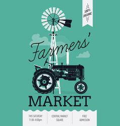 Farming poster vector