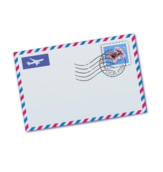 Airmail envelop vector