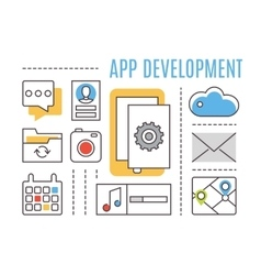Application development Mobile apps vector image vector image