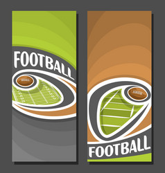 Banners for american football vector