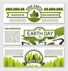 Banners for earth day nature conservation vector