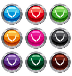 bead set 9 collection vector image