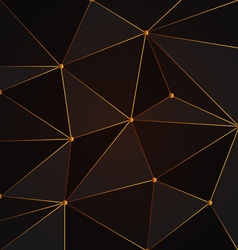Black and gold abstract polygon background vector