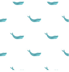 Blue whale pattern seamless vector