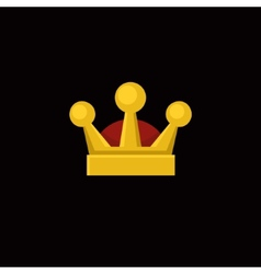Crown Icon in Flat Design Style vector image