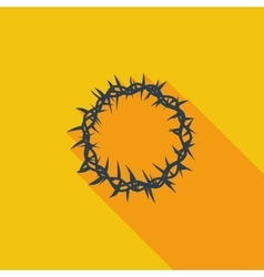 Crown of thorns single icon vector image